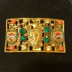 Irving Marks Fabulous gold vintage costume  buckle